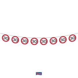 30 jaar Verkeersbord Slinger - 12 meter