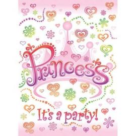 Uitnodigingen prinsessen 8 Stuks