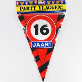 Vlaggenlijn Party 16 Jaar Verkeersbord