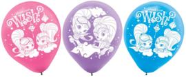 Ballonnen Shimmer en Shine 23cm (6ST)