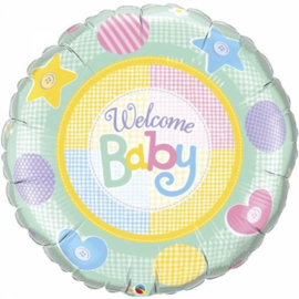 Folieballon Welcome Baby Jongen / Meisje 91 cm