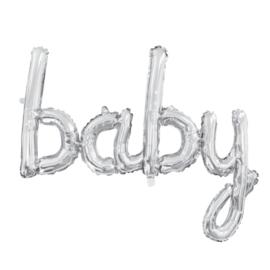 Folie Ballon Baby Zilver 119cm Leeg