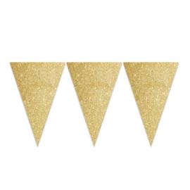Vlaggenlijn glitter goud (6m)