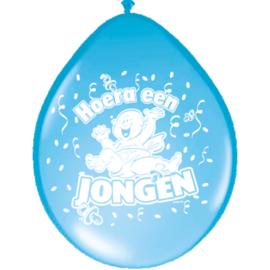 Geboorte Ballonnen - Hoera een Jongen - 8 stuks