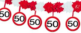 50 Jaar Verkeersbord Slinger met Onderhanger