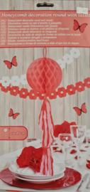 Honeycomb Bol Rood met Tassel