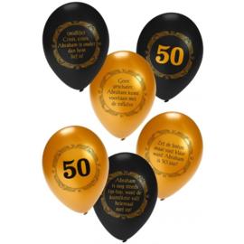 Abraham metallic zwart/goud ballonnen