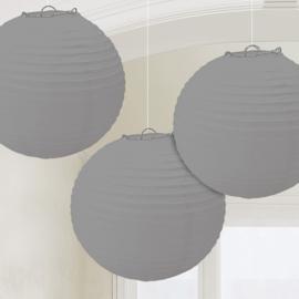 Lampionnen Zilver - 3 Stuks