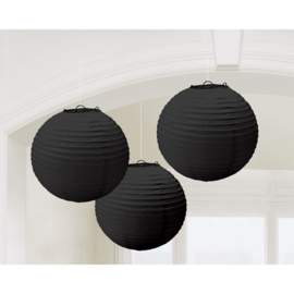 Lampionnen Zwart - 3 Stuks