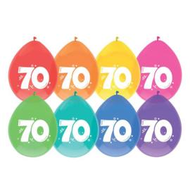 "Ballonnen ""70"" 30 cm - 8 stuks"