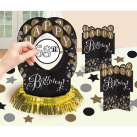 Glitter Feest Leeftijd Toevoegen Tafel Decoratie Kit