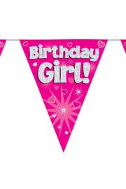 Vlaggenlijn Birthday Girl - 3,9 meter