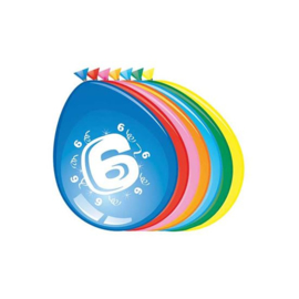 Latex Ballonnen 6 jaar 8 Stuks