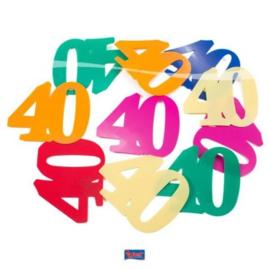 Tafel Decoratie confetti XL 40 jaar