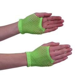 Nethandschoen kort fluor groen
