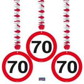 Hangdecoratie Verkeersbord 70