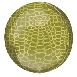 Folieballon Orbz Alligator Print - 41 cm