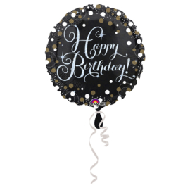Folieballon Happy Birthday Sparkling - 45 cm