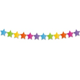 Papieren slinger ster (6m)