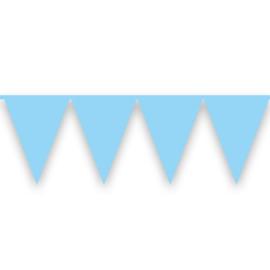 Vlaggenlijn babyblauw (10m)