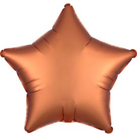Folieballon ster satin amber (43cm)