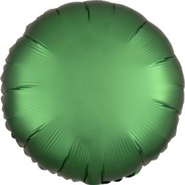 Folieballon rond satin emerald - 43 cm