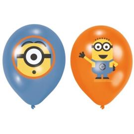 Ballonnen Minions (Ø28cm, 6st)