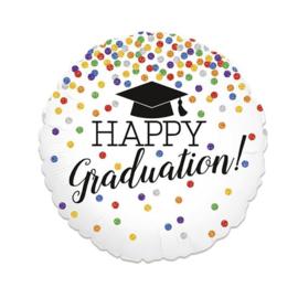 Folieballon 'Happy Graduation' - 46 cm