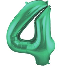 Cijfer 4 Groen Mat 86 cm