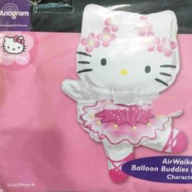 Folieballon Air Walker ( Hello Kitty ) - 80cm Hoog