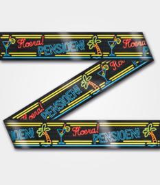 Neon party tape - Pensioen - 12 meter