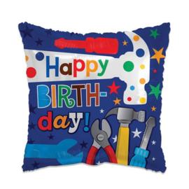 Folieballon Happy Birthday Tools - 46 cm