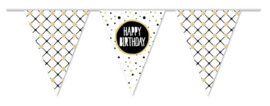 "Vlaggenlijn Festive Gold ""Happy Birthday"" - 10m"