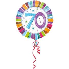 Folieballon 70 Jaar Metallic - 45 cm