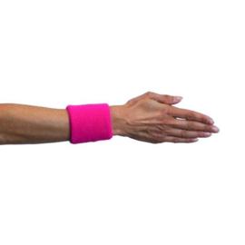 Polsband neon roze 2 stuks