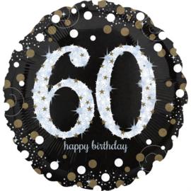 Folieballon 60 birthday sparkling 73 cm