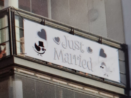 Banner Just Married 1.00 x 30cm