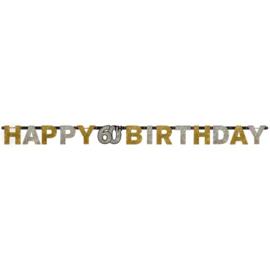 Glitterfeest 60 Jaar Letter Banner