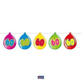 60 Jaar Birthday Ballonnen Slinger - 10 meter