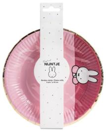 Borden Nijntje baby Roze - 8 stuks