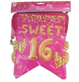 Vlaggenlijn Sweet Sixteen - 6 meter