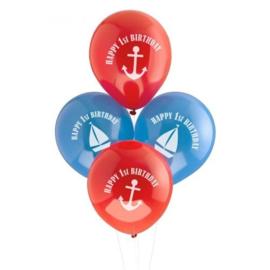 Latex Ballonnen 1 jaar 8 Stuks Birthday