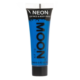 Neon UV face & body paint blue