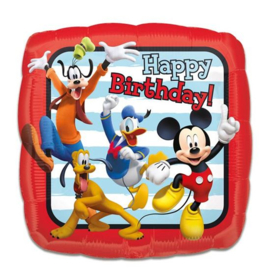 Folieballon Mickey roadster 'HBD' (43cm)