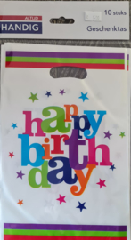 Uitdeelzakjes Happy Birthday 10 Stuks