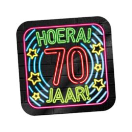 Huldeschild Neon 70 jaar