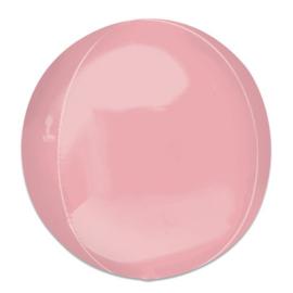 Folieballon Orbz pastelroze - 40 cm