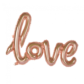 Foliescript 'Love' Rosé Gold