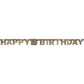 Glitterfeest 18 Jaar Letter Banner