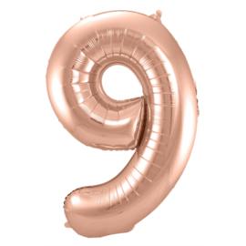 Cijfer 9 Rosé Goud - 86 cm
